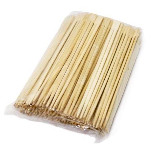 "9.5"" Disposable Square Tip Bamboo Chopsticks (100 pairs/pack)"
