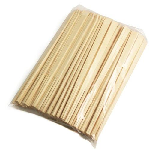 "9.5"" Disposable Pine Chopsticks - 100 Pairs / Pack"