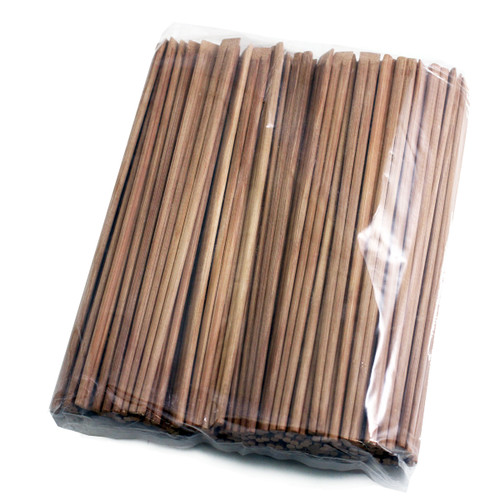 """9.5"""" Disposable Carbonized Slanted Tip Bamboo Chopsticks (100 pairs/pack)"""