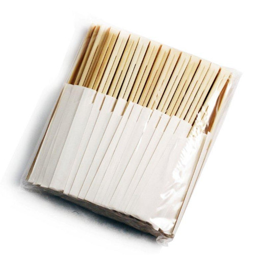 "8.25"" Disposable Bamboo Chopsticks with White Bag (100 pairs/pack)"