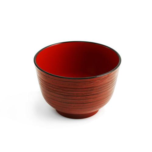"Red Lined Soup Bowl 12 fl oz / 4.21"" dia"