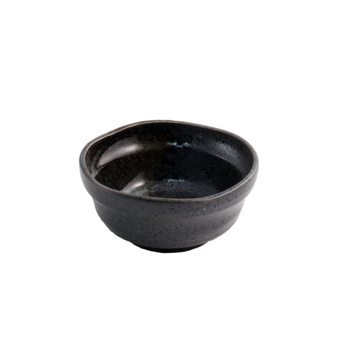 "Grainy Black Bowl 4.5 fl oz / 3.7'"" dia"