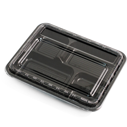 "Black Take Out Bento Box 10.4"" x 8.1"" (400/case)"