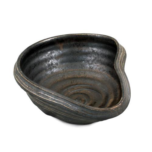 """Charcoal Gray Asymmetrical Bowl 9.84"""" x 8.27"""""""