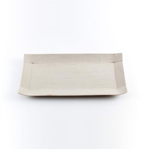 "Ivory Paper-Like Plate 9.49"" x 4.72"""