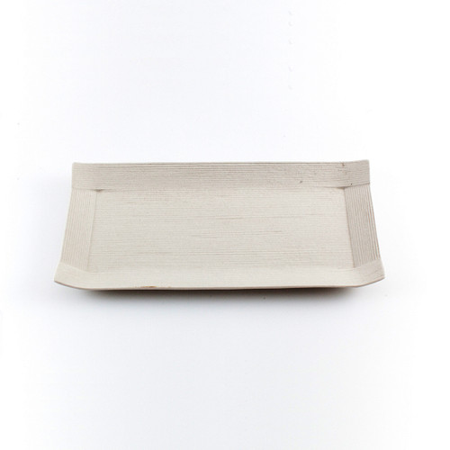 "Ivory Paper-Like Plate 9.49"" x 4.72"""