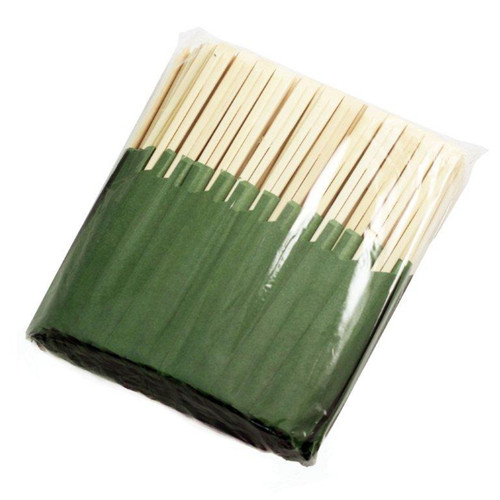 """8.25"""" Disposable Bamboo Chopsticks with Green Bag (100 pairs/pack)"""