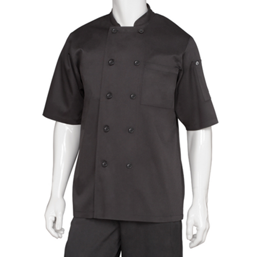 Chef Works® Chambery Basic Chef Coat Black