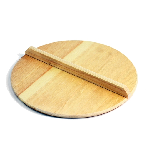 "Large Wooden Drop Lid Otoshibuta 10.25"" dia"