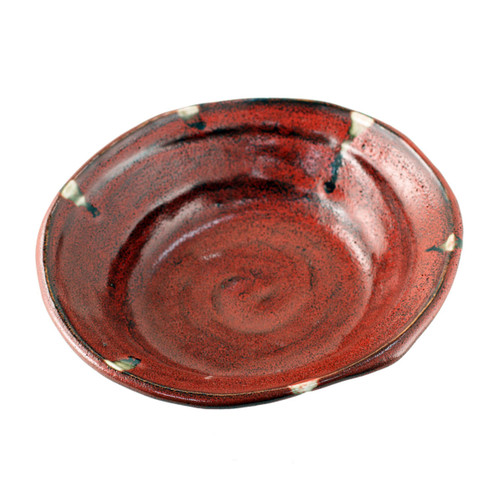 "Rustic Red Bowl 30 fl oz / 9.65"" x 9.06"""