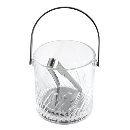 Hard Strong (HS) Glass Ice Bucket with Tongs