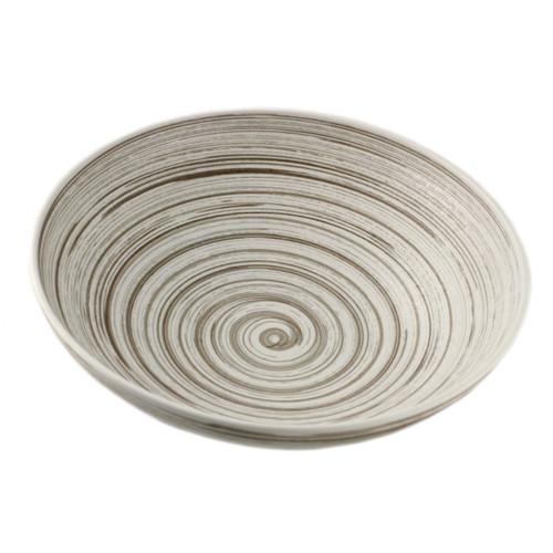"Gray Swirl Bowl 84 fl oz / 11.22"" dia"
