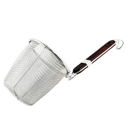 "[Clearance] Stainless Steel Noodle Strainer with Flat Bottom (5.13"" Deep)"