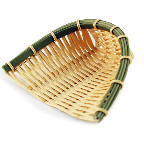 "Washable Faux Bamboo Basket 6.5"" x 7.25"""