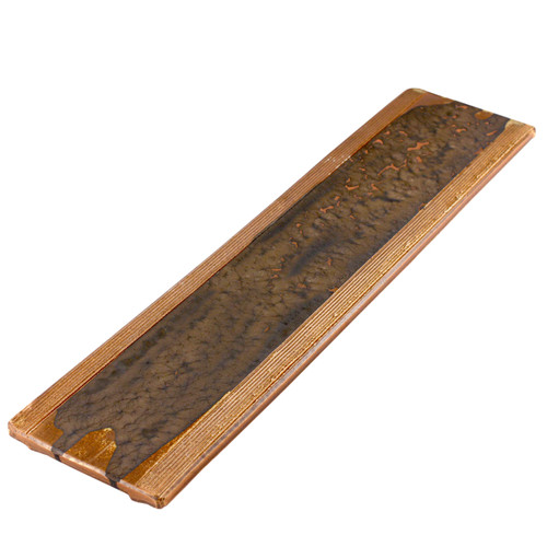 """Kinkessho Bronze Long Rectangular Platter 20.87"""" x 4.92"""""""