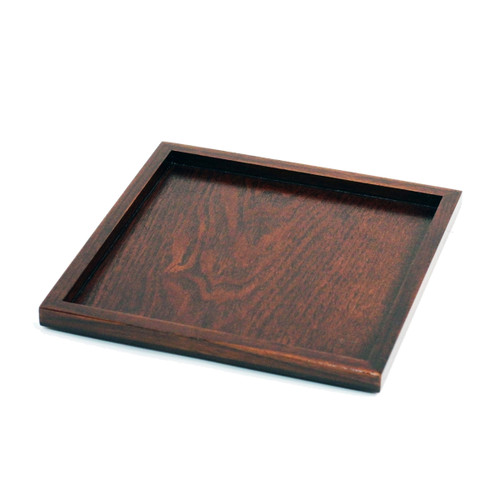 "Wooden Square Tray 7.87"" x 7.87"""
