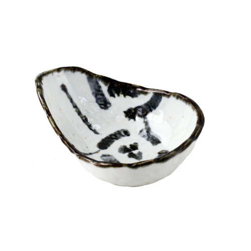 "Small Bowl with Indigo Design 4.92"" x 3.54"""