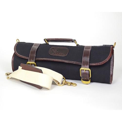 Boldric 9-Pocket Black Canvas Roll Knife Bag