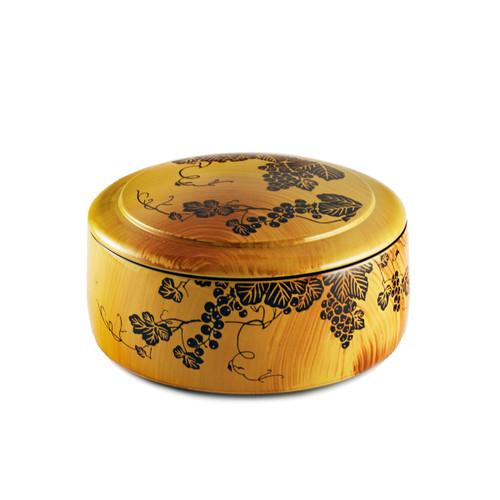 """Grape Motif Chirashi Sushi Box 6.54"""" dia"""