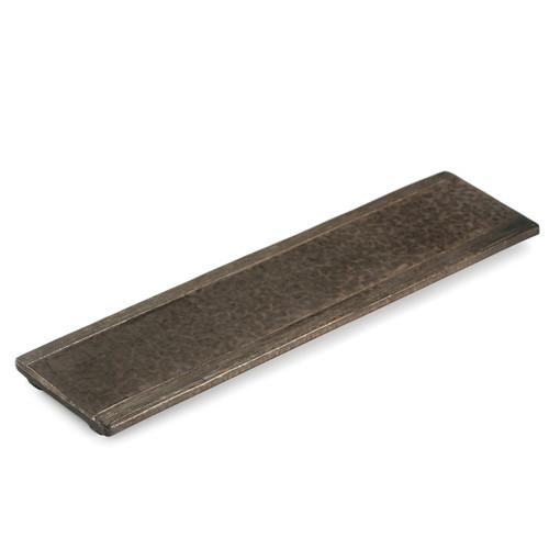 "Kinkessho Bronze Flat Rectangular Plate 18.39"" x 4.92"""
