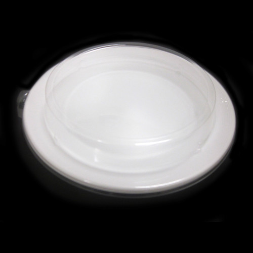 """[Clearance] White Take Out Round Tray 10.25"""" dia (50/pack)"""
