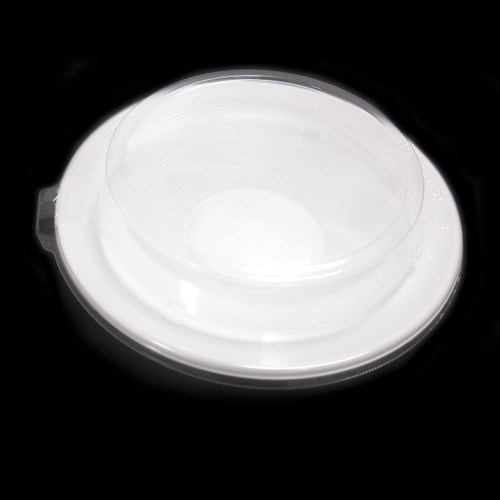"[Clearance] White Take Out Tray Deep Plate 8.5"" dia (50/pack)"