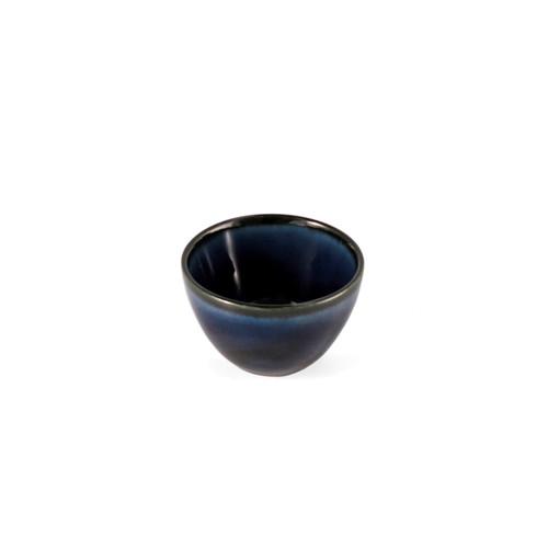 Cobalt Blue Glossy Ceramic Sake Cup 1.3 fl oz