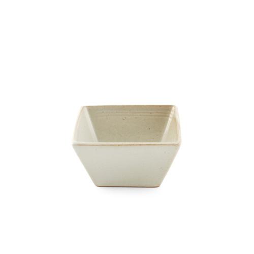 """[Clearance] Ecru Square Small Bowl Kobachi 10 fl oz / 4.25"""" x 4.25"""""""