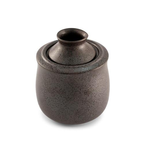 Black Kessho Ceramic Sake Server & Warmer Medium 5 fl oz