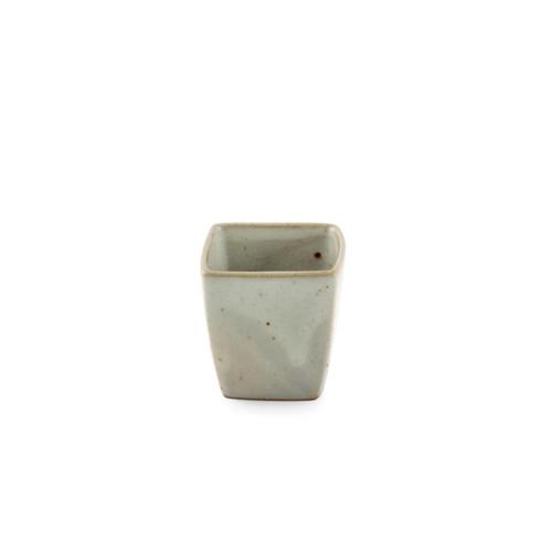Cracked Square Ceramic Sake Cup 2.8 fl oz