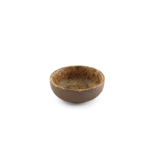 """[Clearance] Textured Small Bowl Earthy Brown Ceramic 2 fl oz / 2.76"""" dia"""