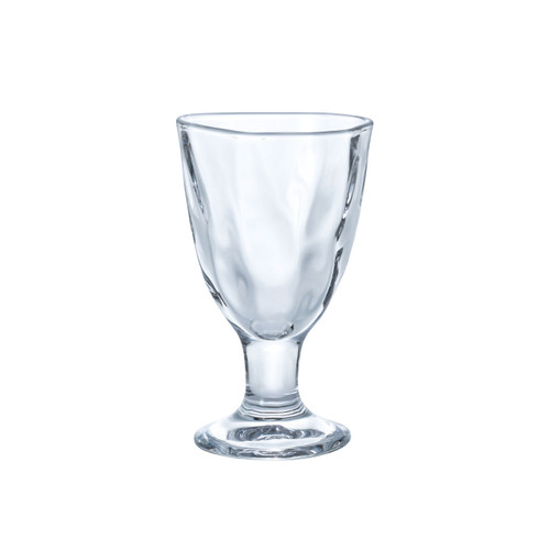 Organic Shaped Glass Sake Cup with Stand 5 fl oz