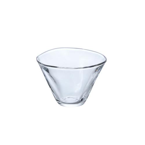 "Organic Shaped Glass Dessert Bowl 6 fl oz / 3.94"" dia"