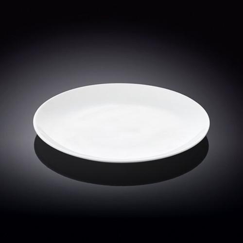"Wilmax White Dessert Plate 7.01"" dia"
