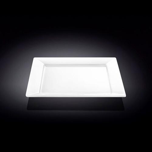 "Wilmax Rimmed White Square Dinner Plate 11.61"" x 11.61"""