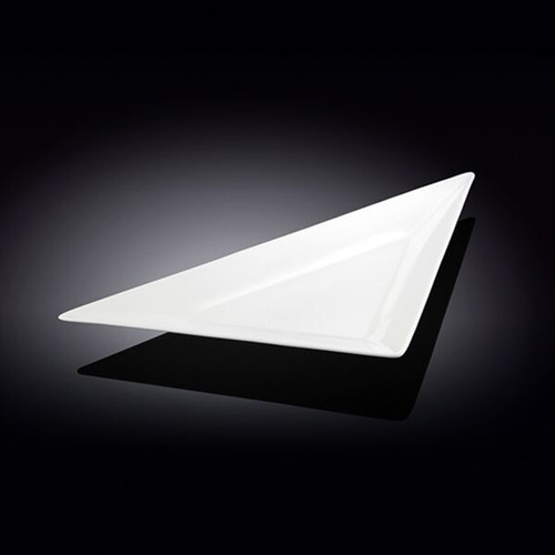 "[Clearance] Wilmax White Triangular Plate 15.24"" x 7.83"""
