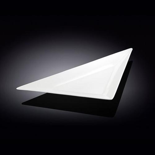 """Wilmax White Triangular Plate 15.24"""" x 7.83"""""""