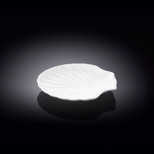 """[Clearance] Wilmax Shell Shaped White Plate 4.65"""" x 4.53"""""""