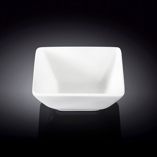 "Wilmax White Square Small Bowl 3.98"" x 3.7"""