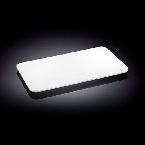 """Wilmax White Rectangular Flat Plate 10.04"""" x 5.71"""""""