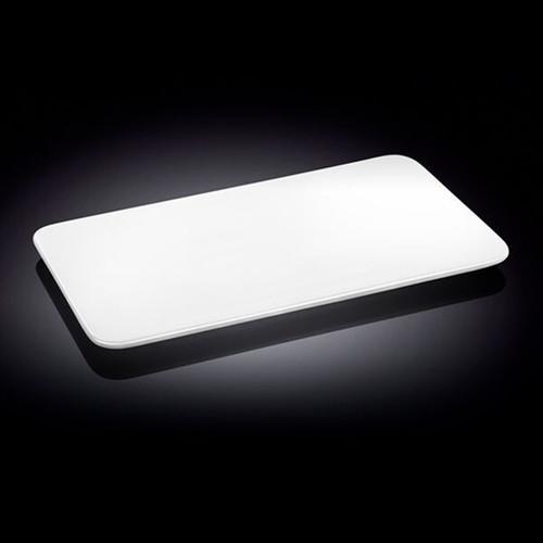 """Wilmax White Rectangular Flat Plate 14.13"""" x 9.84"""""""