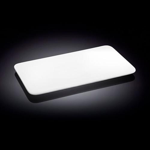 """Wilmax White Rectangular Flat Plate 11.89"""" x 7.52"""""""