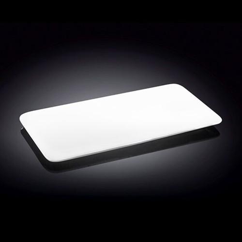 "[Clearance] Wilmax White Rectangular Flat Plate 11.89"" x 6.3"""