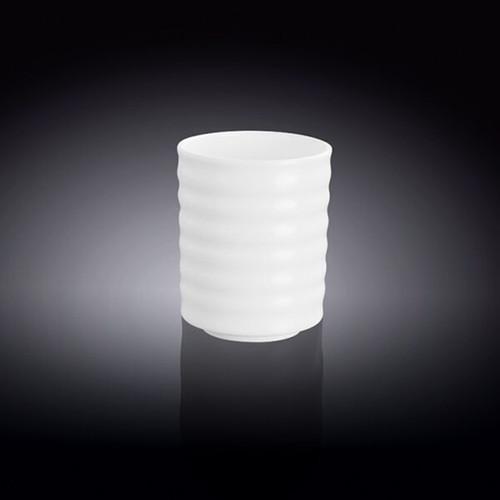 [Clearance] Wilmax White Porcelain Ridged Tea Cup 7.5 fl oz