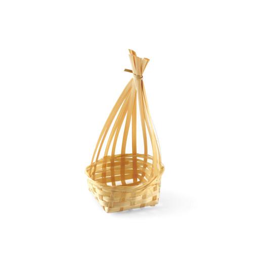 "Bamboo Basket Kamakura 2.38"" dia x 5.5"" ht"