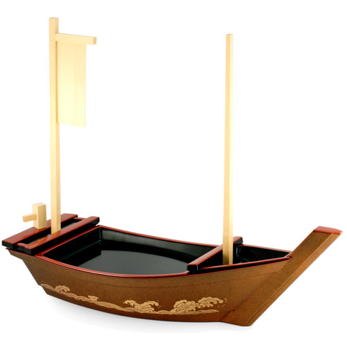 20% Off with code SUSHI20 - Sushi Serving Treasure Boat Red Medium
