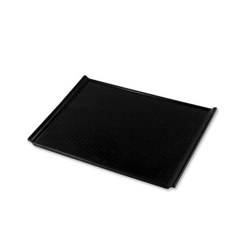 "Non-slip Black Rectangular Serving Tray with Handles 15.55"" x 10.87"""