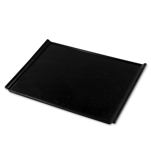 "Non-slip Black Rectangular Serving Tray with Handles 17.91"" x 12.6"""