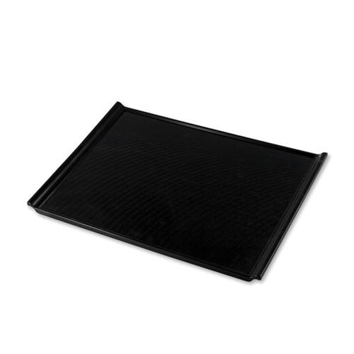 "Non-slip Black Rectangular Serving Tray with Handles 16.81"" x 12.2"""