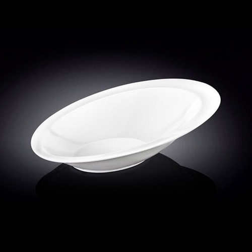 """[Clearance] Wilmax Asymmetrical Oval White Dinner Bowl 11.1"""" x 7.6"""""""